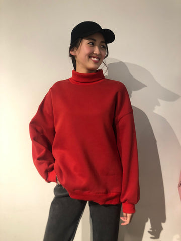 Oversized High Neck Sweatshirt