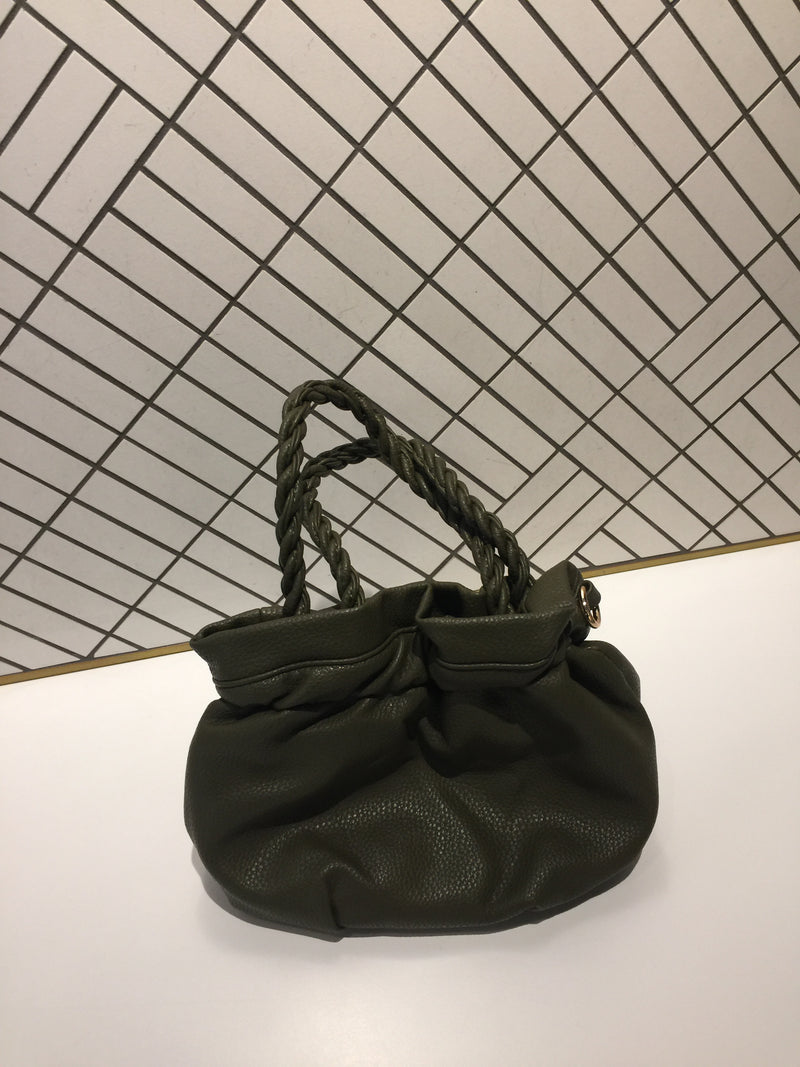 Twisted Handle Mini Bucket Bag