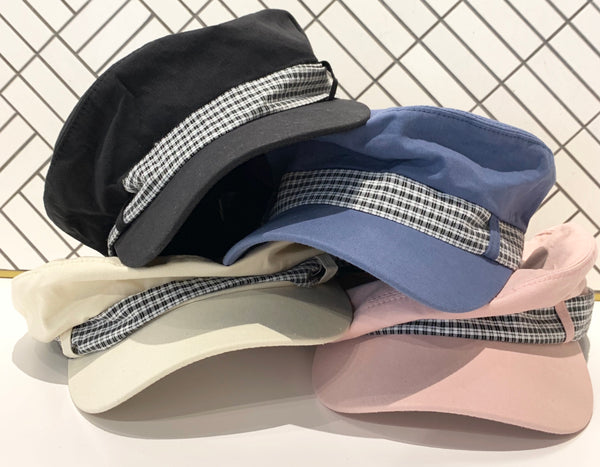 Tie Checker Strap Newsboy Cap