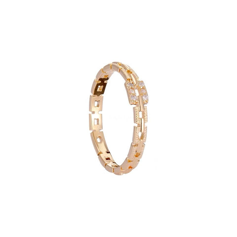 Rhinstone Chain Shape Ring