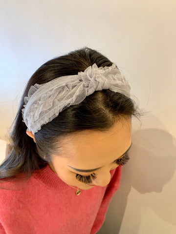 Lace Wrap with Knot Headband