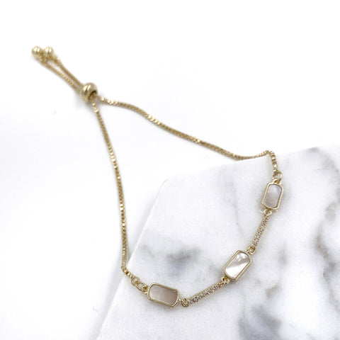 Pearl Shell Rectangles Bracelet