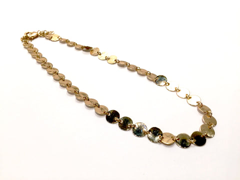 Metal Sequin Choker