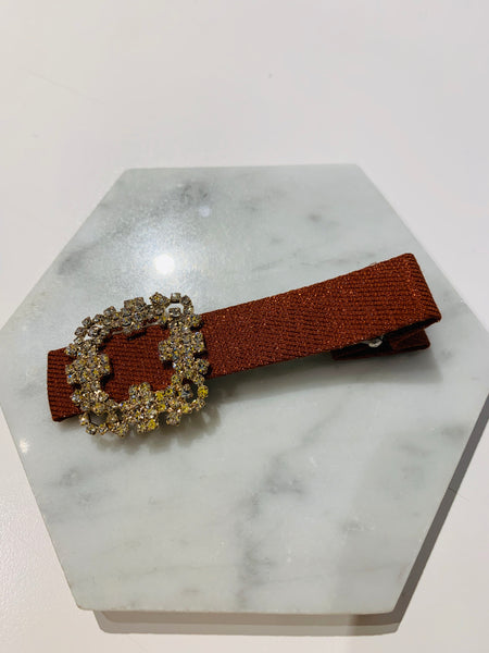 Square Rhinestone Buckle Hair Clip