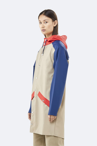Color Block Long Jacket