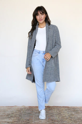 Open Front Tweed Cardigan Jacket