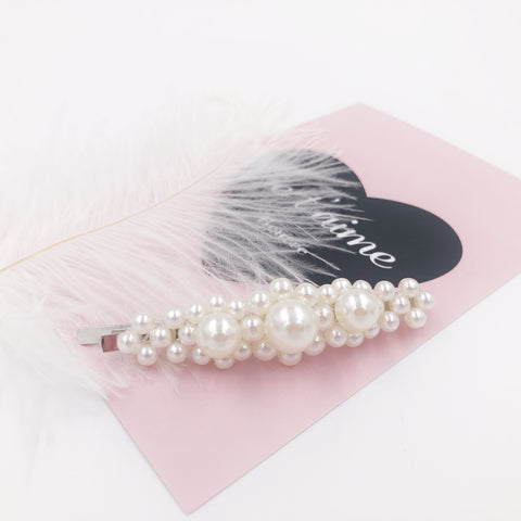 Three Big Pearls Hair Clip