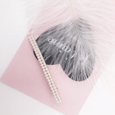 Two Lines Pearl Hair Clip