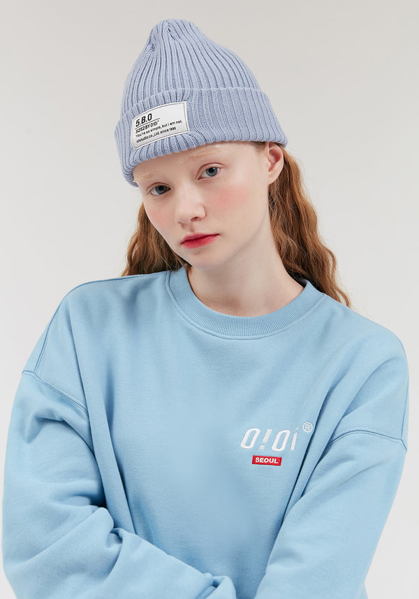 Oversized Small OiOi Logo Sweatshirt