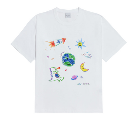 Crayon Drawing Short Sleeves T-shirt