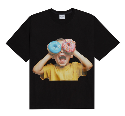 Blue Pink Donut Kid Short Sleeves T-shirt