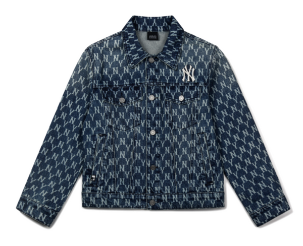 Oversized NY Monogram Denim Jacket