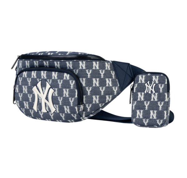 Denim NY Monogram Bumbag with Mini Pouch