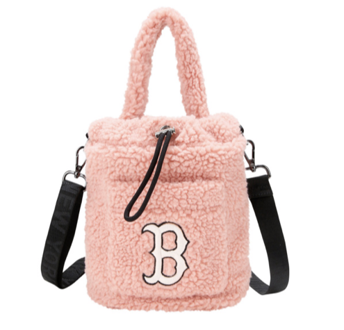 Shearling B Mini Bucket Bag