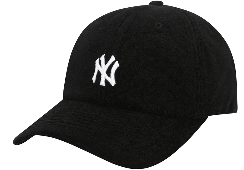 Terry Unstructured NY Black Baseball Cap