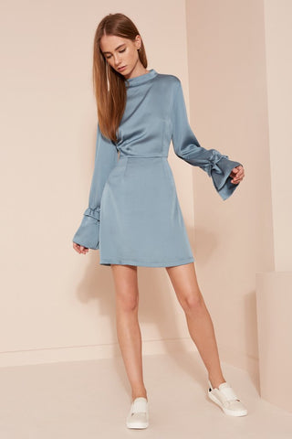 Flared Sleeve Mini Dress