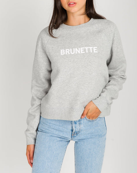 BRUNETTE Little Sister Crewneck