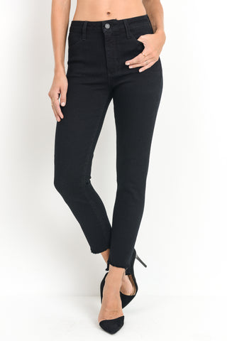 Cropped Fray Skinny with Step Hem