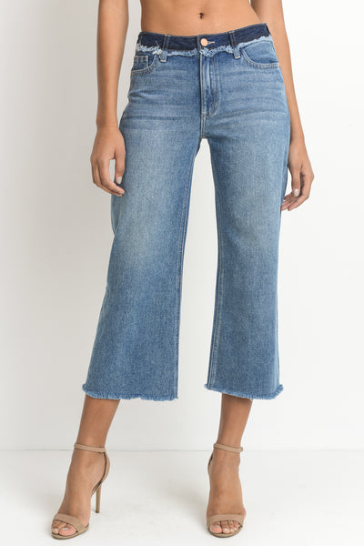 Wide Leg Cropped Jeans