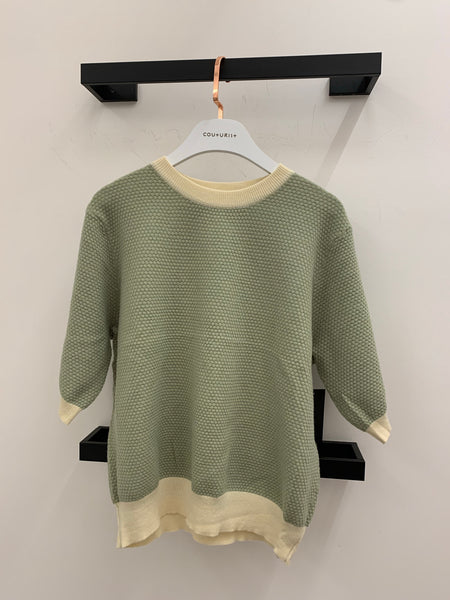 Contrasting Edges Pullover Sweater