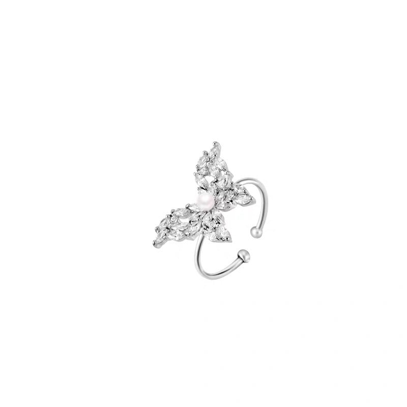 Rhinestone Big Butterfly Ring