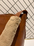 Fur Wrap Strap Shoulder Bag
