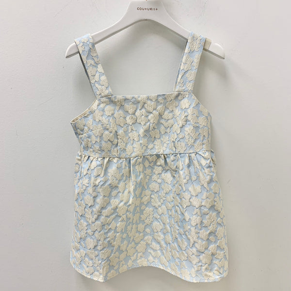 Floral Pattern Flare Tank