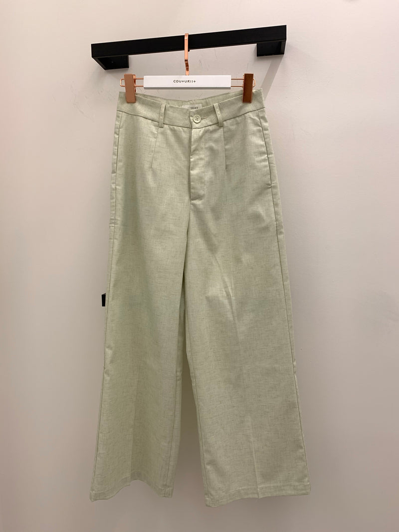 High-waisted Wide Leg Trousers
