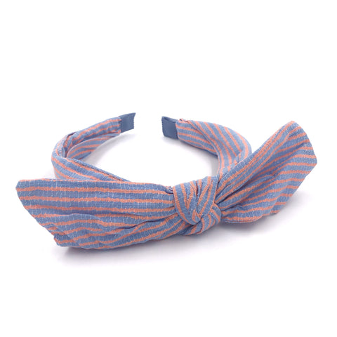 Stripe Bow Headband