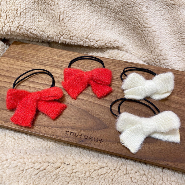 Knit Bow Hair Tie