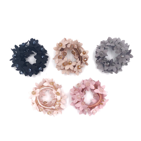 Crystal and Flower Hair Tie