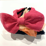 Small Square Cut-out Wide Headband with Big Bow