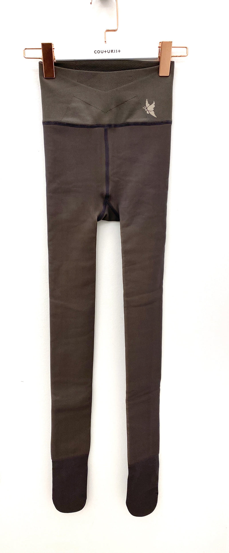 High-waisted See Through Style Tights with Fleece Lining
