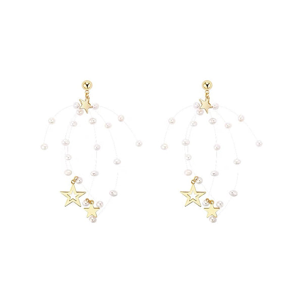 Pearls and Stars Earrings