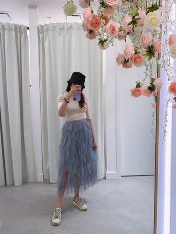 Layers Tulle Midi Skirt