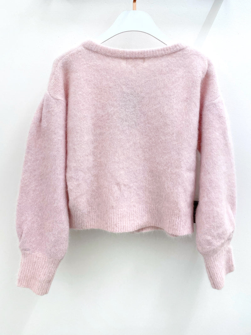 Oversized Big Buttons Crop Cardigan Top