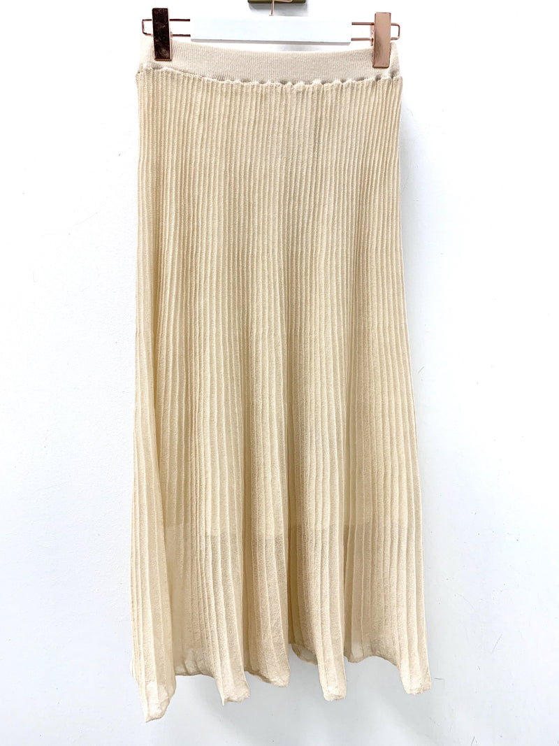 Knit Pleated Maxi Skirt