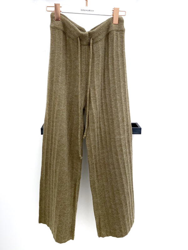 High-waisted Knit Wide Leg Pants