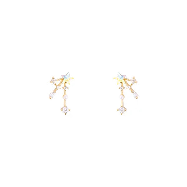 Mini Star and Rhinestones Earrings