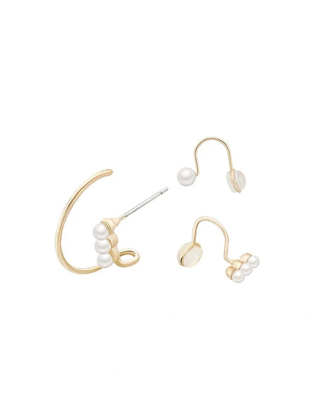 Small Pearls Earring Set