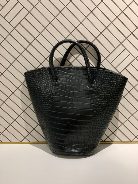 Croc Embossed Big Bucket Bag