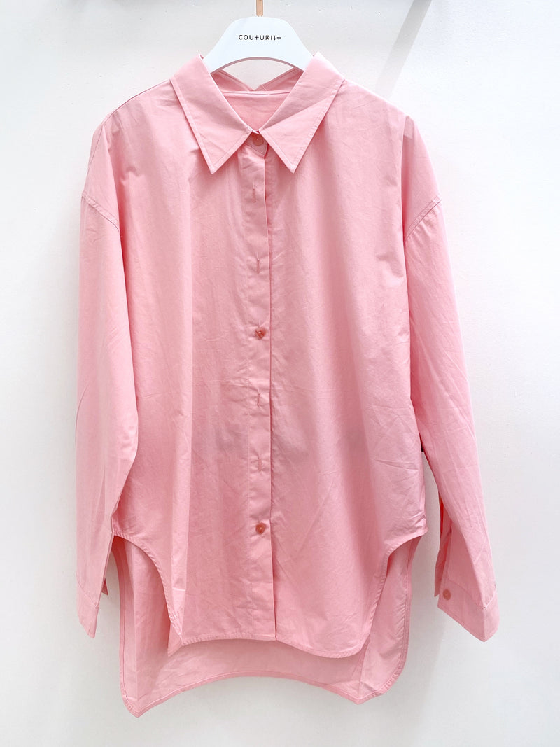 Oversized Solid Color Shirt