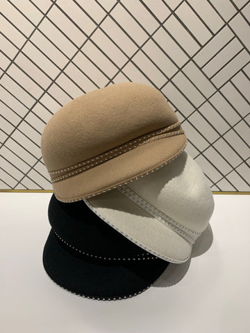 Stud Edge Wool Hat