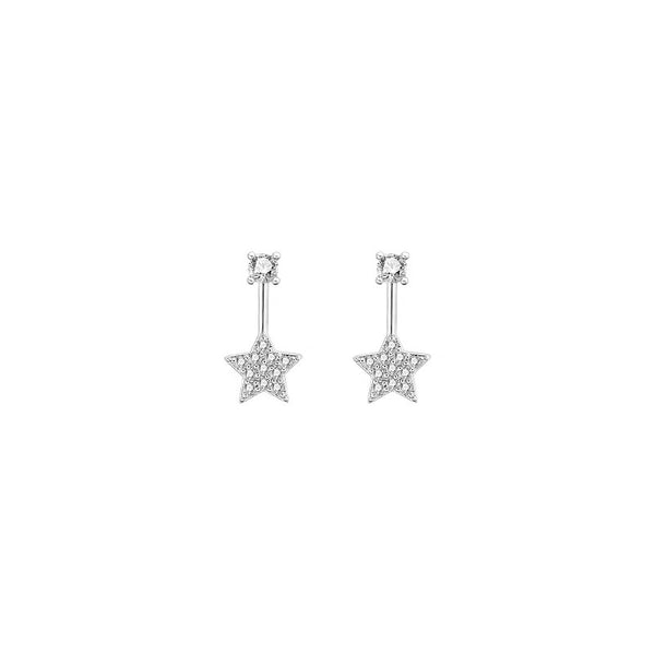 Rhinestone Star Drops Earrings