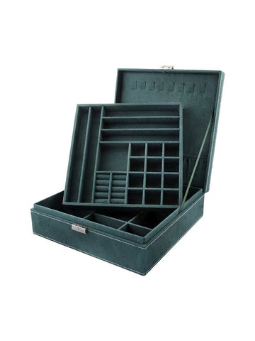 Big Suede Square Jewelry Box