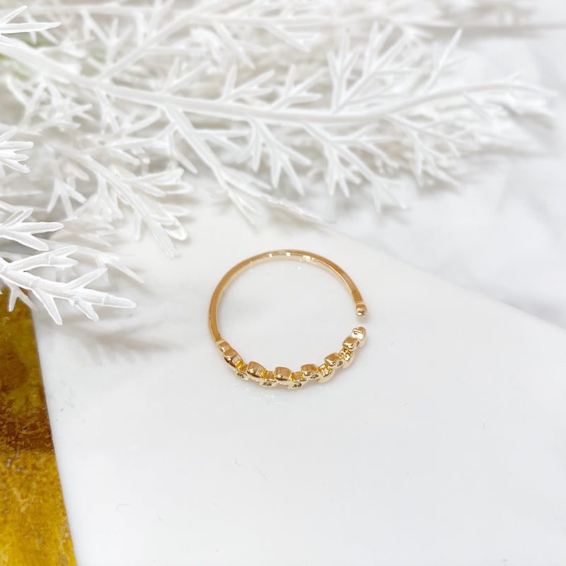 Half Wreath Open Ring