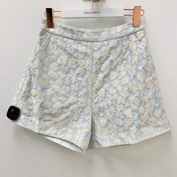 Floral Pattern Flare Shorts