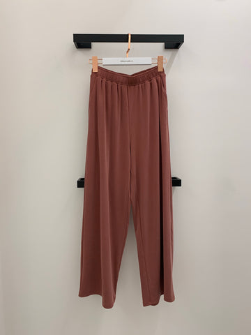 Solid Color Wide Leg Pants
