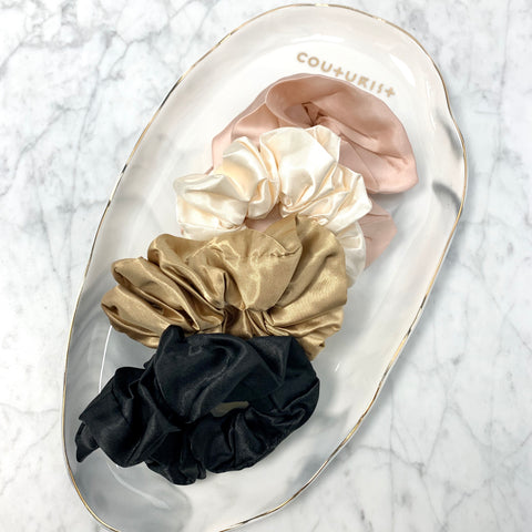 Solid Color Satin Scrunchie