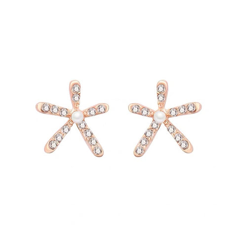 Rhinestone Sea Star Studs